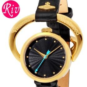 [厳選]ヴィヴィアン・ウエストウッド Vivienne Westwood 腕時計 レディース Horseshoe 23mm ブラック ゴールド レザー vv082bkbk