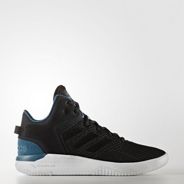 (セール)adidas(アディダス)シューズ カジュアル CLOUDFOAM REVIVAL MID CFQ31 AW3949 メンズ コアブラック/コアブラック/サーフペトロールS15