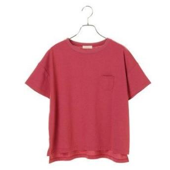 アースミュージックアンドエコロジー earth music&ecology MULTI FUNCTIONポケットTシャツ (Pink)