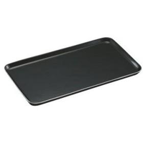 陶磁器 角ケーキプレート(黒+プラチナライン入)