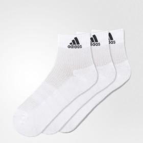 (セール)adidas(アディダス)スポーツアクセサリー ソックス 3S パフォーマンス 3Pショートソックス KAW64 AA2285 2224 ホワイト/ホワイト/ホワイト