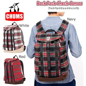 CHUMS チャムス Back Pack Check Canvas CH60-2084