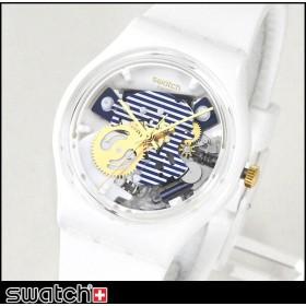 SWATCH スウォッチ GW169 MARINIERE マリニエーレ GENT ジェント レディース 腕時計 ホワイト ブルー 白 青