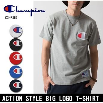 Champion/チャンピオン Tシャツ ACTION STYLE BIG LOGO T-SHIRT アクション スタイル ビッグロゴ Tシャツ C3-F362 【メール便・代引不可】