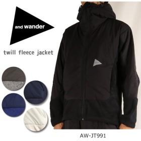 アンドワンダー and wander twill fleece jacket AW-JT991 【服】 ジャケット アウター フリース 防寒