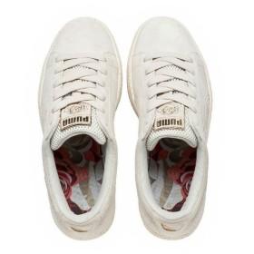 (セール)(送料無料)PUMA(プーマ)シューズ カジュアル BASKET X CARO 36147503 メンズ ウィスパー ホワイト/ウィスパー ホワイト/プーマ ホワイト