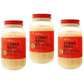 ユウキ食品 化学調味料無添加のガラスープ 400g×3個     【岩塩使用 YOUKI 顆粒 マコーミック 中華調味料 エスニック】