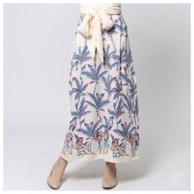 【Kahiko】バナナリーフ&フラガールサッシュスカート / ワンピース クリーム