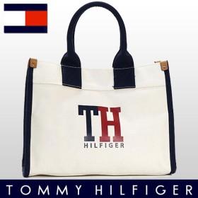 ポイントキャンペーン中 [厳選]トミーヒルフィガー TOMMY HILFIGER バッグ トートバッグ TOMMY SHOPPER NATURAL NAVY RED レッド コットン 6929741-610