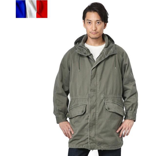 実物 フランス軍M-64パーカーコート USED メンズ アウター ミリタリージャケット ミリタリーコート ジャンバー 軍服 放出品【クーポン対象外】