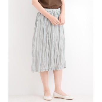 NIMES / ニーム Linen Stripe ギャザー SK