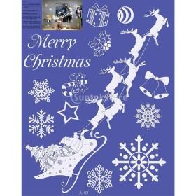 装飾  クリスマス デコレーション ウォール  ステッカー 家  全10様式 - ディアカート