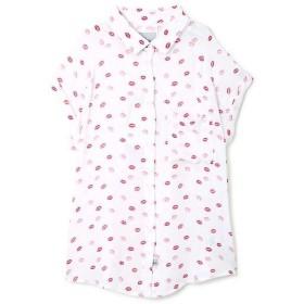 ROSE BUD / ローズ バッド [RAILS]リッププリント半袖シャツ