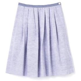 HUMAN WOMAN / ヒューマンウーマン 綿麻ストライプスカート