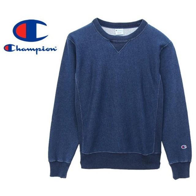 CHAMPION REVERSE WEAVE CREW NECK SWEAT SHIRT チャンピオン リバースウィーブ クルーネック スウェット シャツ STONE WASHED BLUE