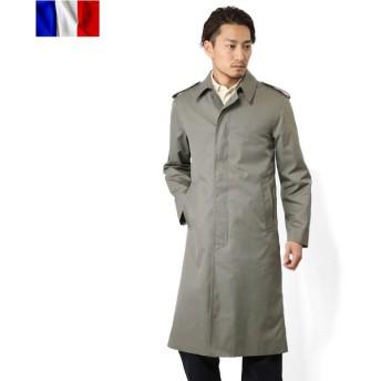 実物 新品 フランス軍 ステンカラーコート メンズ KHAKI ミリタリー ロングコート ビジネスコート 軍物 軍服 放出品 デッドストック