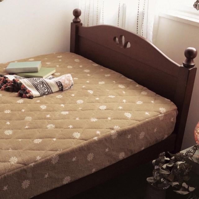 布団カバー シーツ パッド一体型ベッド用シーツ ベルメゾン マイクロファイバーのボックスシーツ型敷きパッド シングル