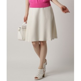 L size ONWARD(大きいサイズ) / エルサイズオンワード 【ベルト付き】リネンライクブッチャー スカート