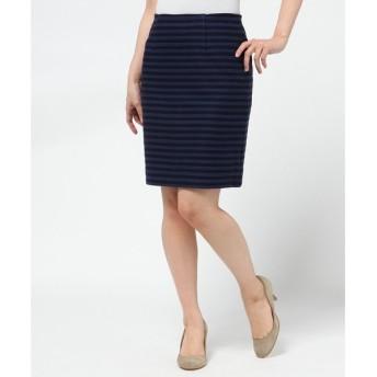 S size ONWARD(小さいサイズ) / エスサイズオンワード コットンビスケットボーダー スカート