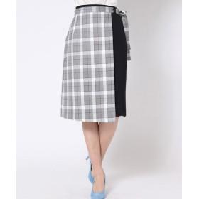 QUEENS COURT / クイーンズコート 【2way】ラップ風スカート