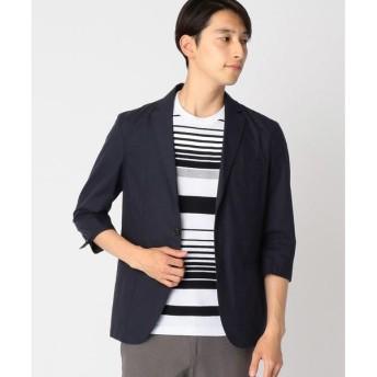 COMME CA ISM / コムサイズム 七分袖 麻混 ジャケット