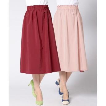 QUEENS COURT / クイーンズコート 【洗濯機で洗える】【2way】リバーシブルスカート