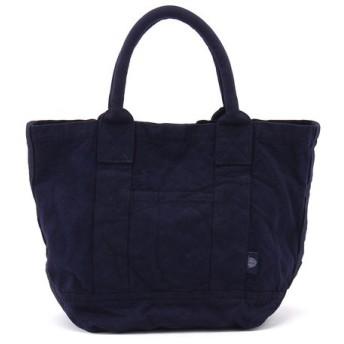 Daily russet デイリーラシット 藍染めフロントポケットトートバッグ S