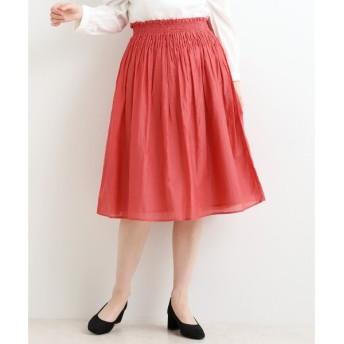 NIMES / ニーム 綿シルク シャーリングスカート