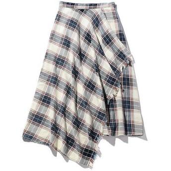 ROSE BUD / ローズ バッド チェックラップスカート