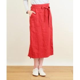 NIMES / ニーム 麻キャンバスプラス ラップスカート