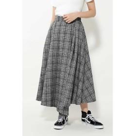 ROSE BUD / ローズ バッド チェックアシンメトリースカート