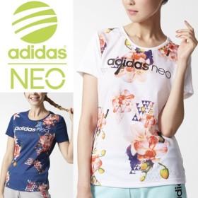 レディース 半袖 Tシャツ adidas NEO HM FLGM Tシャツ フラワープリント アディダスネオ スポーティ カジュアル 女性 ウェア カットソー スポーツミックス/MLF78