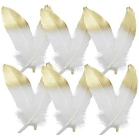 12本セット 工芸品 羽根 染め羽根 装飾 人工フェザー 手芸材料 DIY 15~20センチメートル 全3色選ぶ - 色1