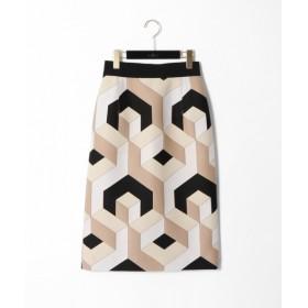 GRACE CONTINENTAL / グレースコンチネンタル 幾何ジャガードタイトスカート