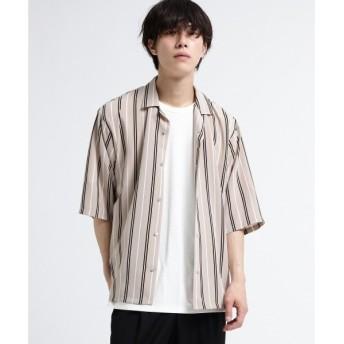tk.TAKEO KIKUCHI / ティーケー タケオキクチ レジメンストライプオープンカラーシャツ