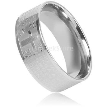 ノーブランド品男性指輪 リング J005ステンレス鋼リング サイズ10