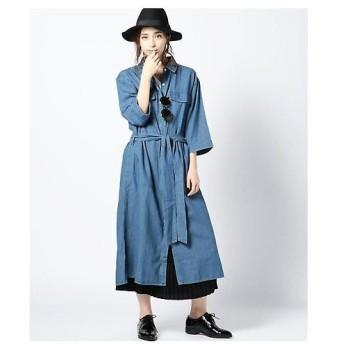 ROSE BUD / ローズ バッド シャンブレーシャツ型ワンピース