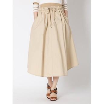 I.T.'S. international / イッツインターナショナル グリストーン加工フレアヘムデザインスカート
