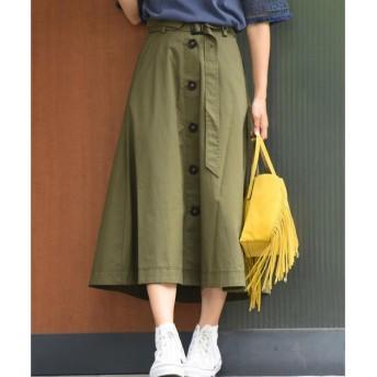 MAYSON GREY / メイソングレイ 【socolla】【洗濯機OK】ギャバシングルトレンチスカート