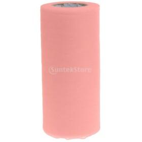 ファブリックロール チュール生地 スプールロール チュチュ クラフト ウェディング ドレス 装飾 多色選べ - ピンク
