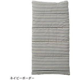 べビー 寝具 日本製 綿100%2重ガーゼのお昼寝マット カラー ネイビーボーダー
