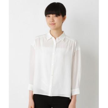 SHIPS for women / シップスウィメン ウォッシャブルシルクビッグシャツ
