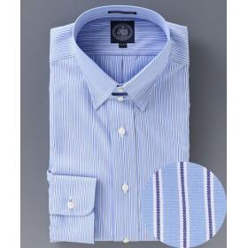 J.PRESS / ジェイプレス PREMIUM PLEATS ワイドピンストライプ タブカラーシャツ
