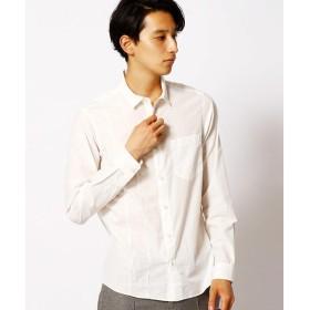 COMME CA MEN / コムサ・メン ピンタックチビ衿シャツ