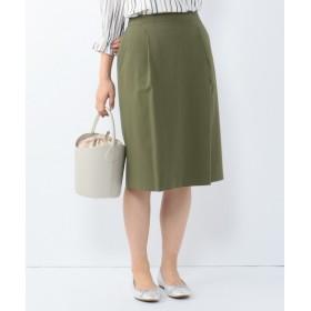 L size ONWARD(大きいサイズ) / エルサイズオンワード 【洗える】2WAYアルガンギャバ スカート
