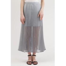 JILLSTUART / ジルスチュアート シャンブレーオーガンジープリーツスカート