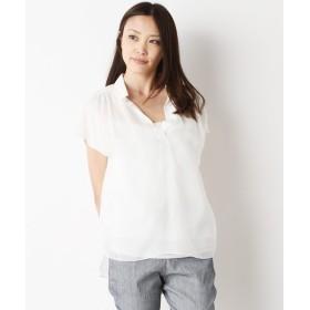 SHIPS for women / シップスウィメン シルク スキッパーシャツ