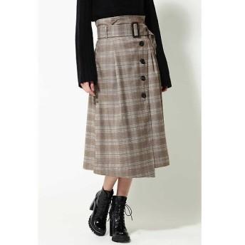 ROSE BUD / ローズ バッド [Gina冬号掲載]グレンチェックラップスカート