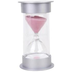ノーブランド品 砂時計 料理タイマー ゲーム 運動 タイミング 装飾 多彩 3−30分 10パタン選べ - ピンク 15分