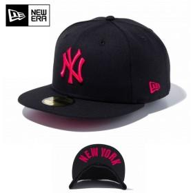 セール20%OFF!【メーカー取次】 NEW ERA ニューエラ 59FIFTY UNDERVISOR ニューヨーク・ヤンキース ブラック×ストロベリー NEW YORK 11308538 キャップ